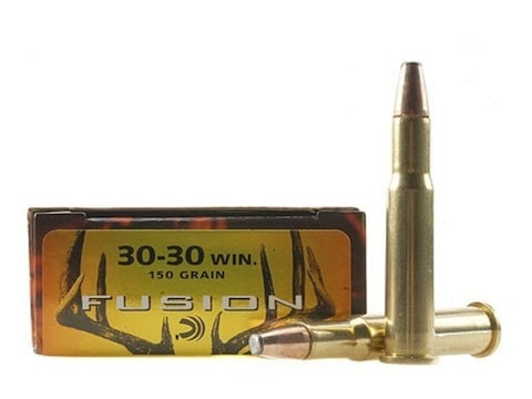 Federal Fusion Ammunition 30-30 Winchester 150 Grain Bonded Flat Nose Box of 20