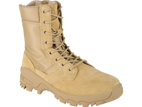 """5.11 Speed 3.0 Desert 8"""" Side Zip Tactical Boots Leather and Nylon Coyote Men's"""