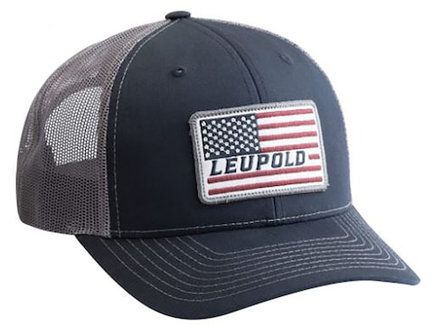 Leupold Flag Snap Back Trucker Cap Navy/Gray