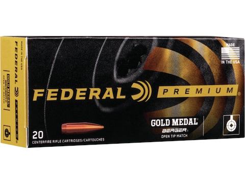 Federal Premium Gold Medal Berger Ammunition 300 Winchester Magnum 215 Grain Berger Hybrid