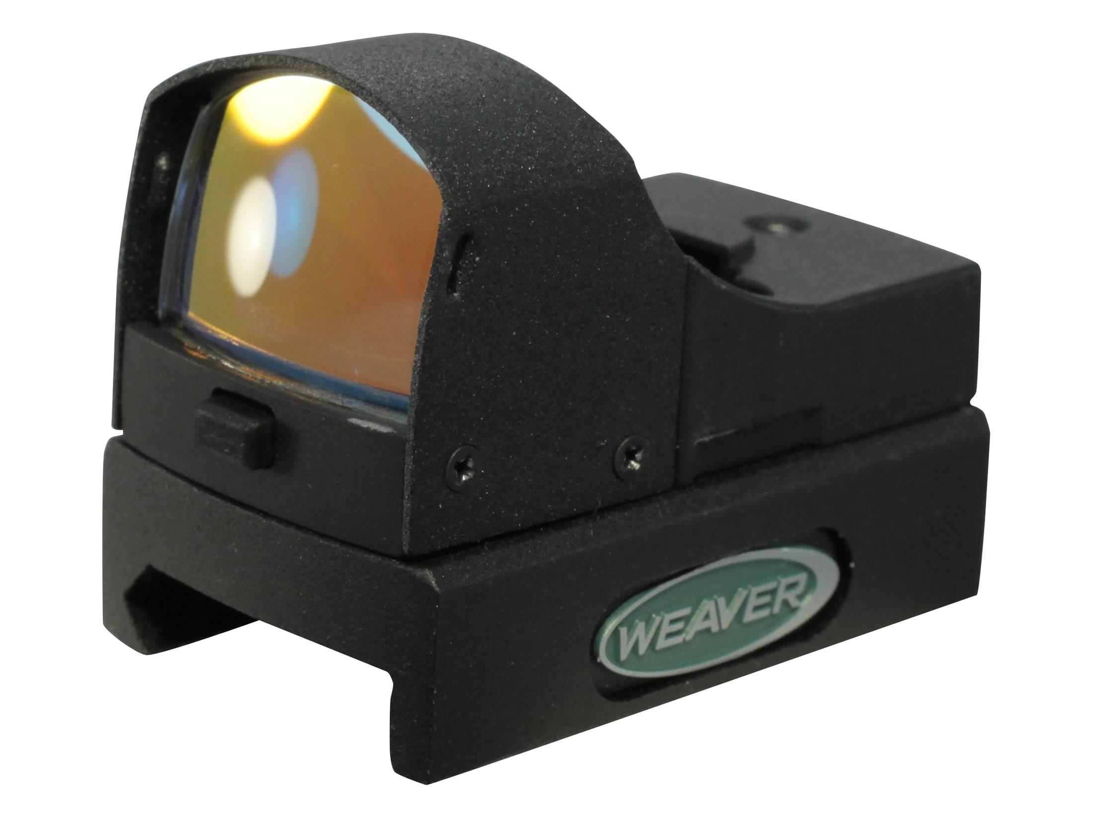 Weaver Micro Dot Reflex Red Dot Sight 4 MOA Dot Weaver-Style Mount