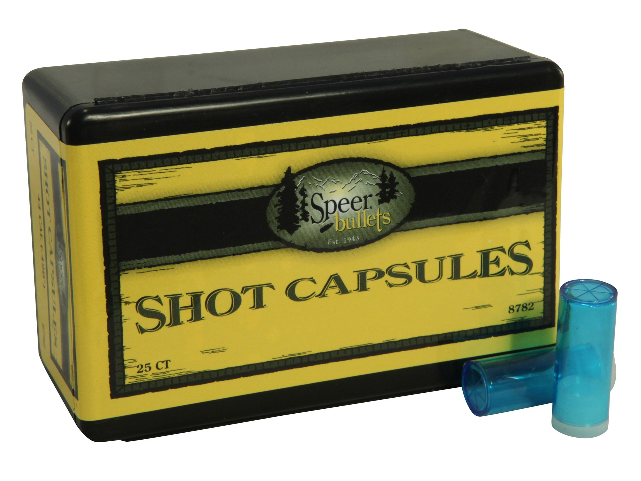 Speer Empty Shot Capsules 44 Cal Box of 25