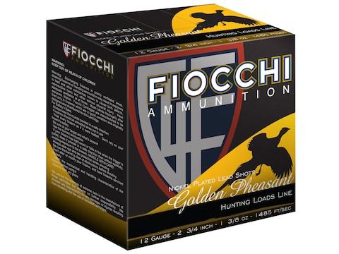 Fiocchi Golden Pheasant Ammunition 12 Gauge Nickel Plated Shot
