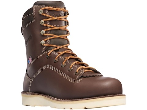 "Danner Quarry USA 8"" GORE-TEX Work Boots Leather Brown Wedge Men's"