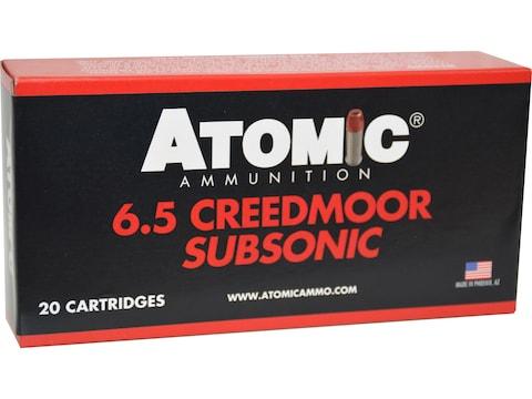 Atomic Ammunition Subsonic Ammunition 6.5 Creedmoor 129 Grain Jacketed Soft Point Box o...