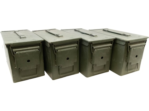 Military Surplus Ammo Can 50 Caliber Grade 2 Package of 4