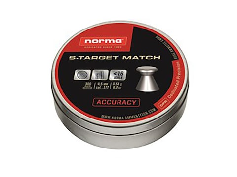 Notma S-Target Match Air Gun Pellets 22 Caliber 14 Grain Tin Flat Nose of 200