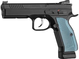 "CZ-USA CZ Shadow 2 Optics-Ready Pistol 9mm Luger 4.89"" Barrel Black Slide Blue Grips 19-Round"