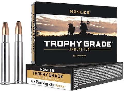 Nosler Safari Ammunition 416 Remington Magnum 400 Grain Partition Box of 20