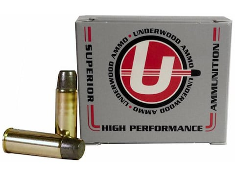 Underwood Ammunition 44 Remington Magnum 305 Grain Lead Long Flat Nose Gas Check Box of 20