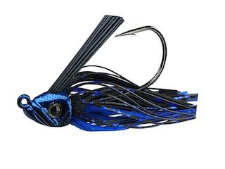 Picasso Swim Jig 30° Mustad Ultrapoint Hook Black/Blue Shower 1/4 oz