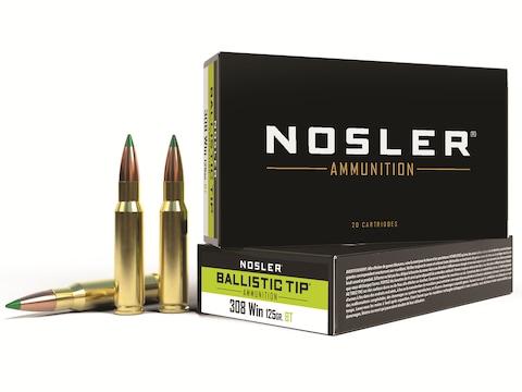 Nosler BT Ammunition 308 Winchester 165 Grain Ballistic Tip Box of 20