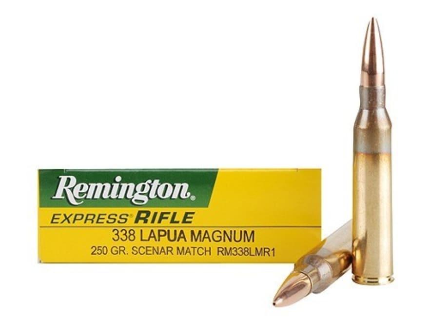 Remington Express Ammo 338 Lapua Mag 250 Grain Lapua Scenar Match Box