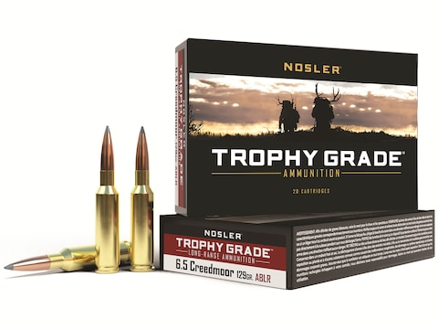 Nosler Trophy Grade Ammunition 6.5 Creedmoor 129 Grain AccuBond Long Range Box of 20