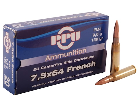 Prvi Partizan Ammunition 7.5x54mm French MAS 139 Grain Full Metal Jacket Box of 20