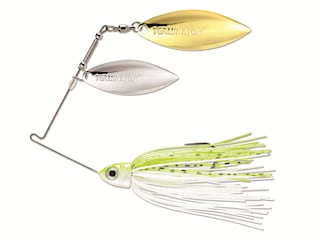 Terminator Pro Series Double Willow Spinnerbait 3/8oz Chartreuse and White Shad Nickel/Gold