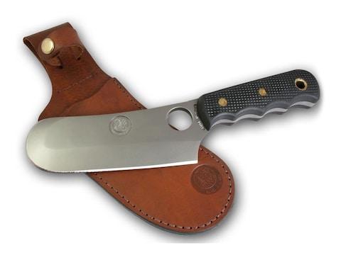 "Knives of Alaska Brown Bear Fixed Blade Knife 6.5"" Skinner/Cleaver D2 Tool Steel Blade"