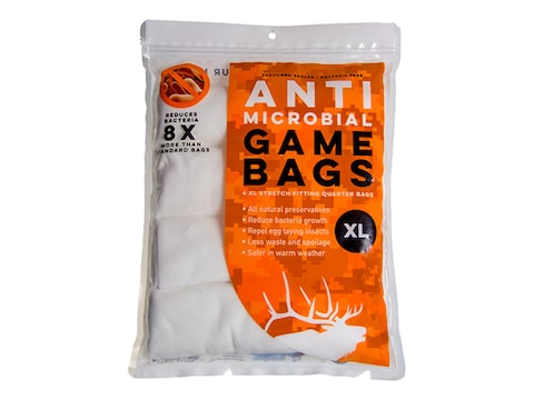 Koola Buck Anti-Microbial Game Meat Bag XL Synthetic Blend Pack of 4