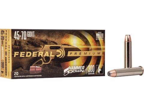 Federal Premium Hammer Down Ammunition 45-70 Government 300 Grain Bonded Soft Point Box...