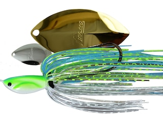 Picasso Inviz Wire Tandem Thunder Willow UL Wire Spinnerbait 3/8oz Citrus Shad Nickel/Gold