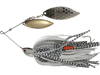 Northland Reed Runner Magnum Double Willow Spinnerbait 3/4oz White Bass Gold/Nickel