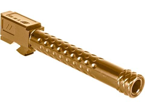 """ZEV Technologies Optimized Match Barrel Glock 17 Gen 5 9mm Luger 4.97"""" Dimpled 1/2""""-28 ..."""