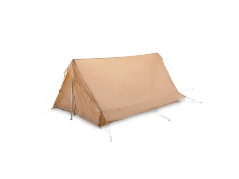 Military Surplus Nato 2 Man F1 Tent With Ground Sheet Grade 1 Sand