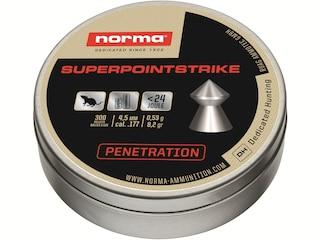 Norma Superpoint Strike Air Gun Pellets 177 Caliber 8.2 Grain Pointed Tin of 300