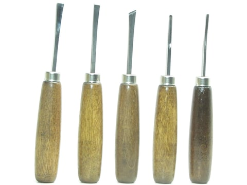 Ramelson 106R 5-Piece Small Woodcarving Tool Set with Straight-Style Handles
