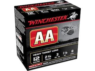 "Winchester AA Heavy Target Ammunition 12 Gauge 2-3/4"" 1-1/8 oz #8 Shot Box of 25"