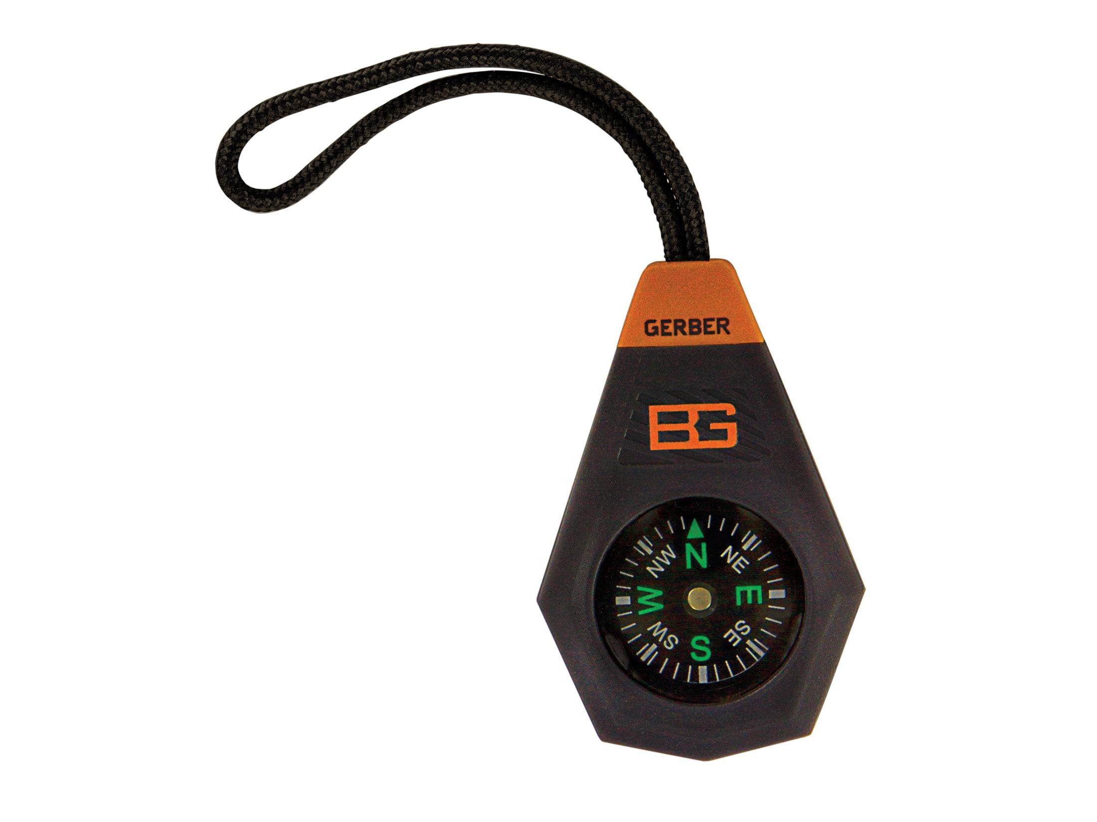 Bear Grylls Gerber Survival Compact Compass keyring
