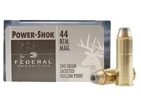 Federal Power-Shok Ammunition 44 Remington Magnum 240 Grain Jacketed Hollow Point Box o...