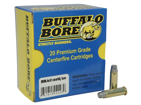 Buffalo Bore Ammunition Outdoorsman 38 Special +P 158 Grain Hard Cast Lead Semi-Wadcutt...