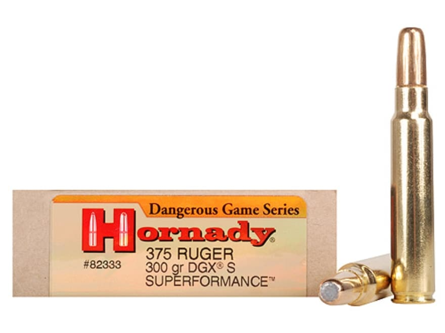 Hornady Dangerous Game Superformance Ammo 375 Ruger 300 Grain Round