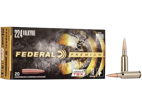 Federal Premium Ammunition 224 Valkyrie 78 Grain Barnes TSX