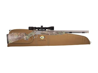 CVA Optima V2 Muzzleloading Rifle 50 Caliber with KonusPro 3-9 x 40mm Scope Realtree Xtra Camo and Stainless Steel
