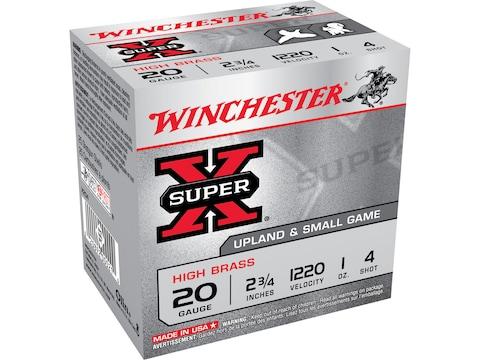 """Winchester Super-X High Brass Ammunition 20 Gauge 2-3/4"""" 1 oz"""