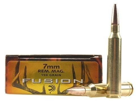 Federal Fusion Ammunition 7mm Remington Magnum 150 Grain Bonded Spitzer Boat Tail Box o...