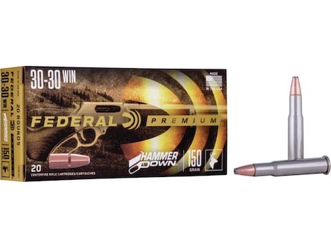 Federal Premium Hammer Down Ammunition 30-30 Winchester 150 Grain Bonded Soft Point Box...
