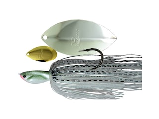 Picasso Inviz Wire Tandem Thunder Willow UL Wire Spinnerbait 1/4oz Gizzard Shad Gold/Nickel