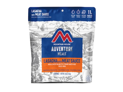 Mountain House Lasagna with Meat Sauce Freeze Dried Food 2 Serving