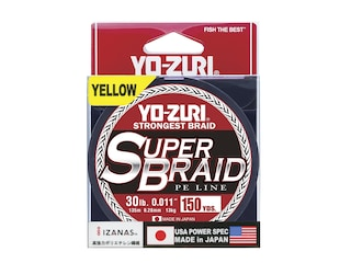 Yo-Zuri Superbraid Braided Fishing Line 30lb 150yd High-Vis Yellow