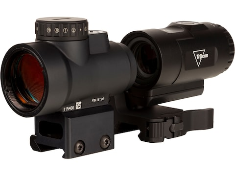 Trijicon Combo MRO HD Red Dot Sight 68 MOA Reticle with 2.0 MOA Dot with Picatinny-Styl...