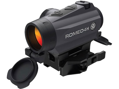 Sig Sauer ROMEO4H Red Dot Sight 1x Torx and Quick-Release Mounts Graphite