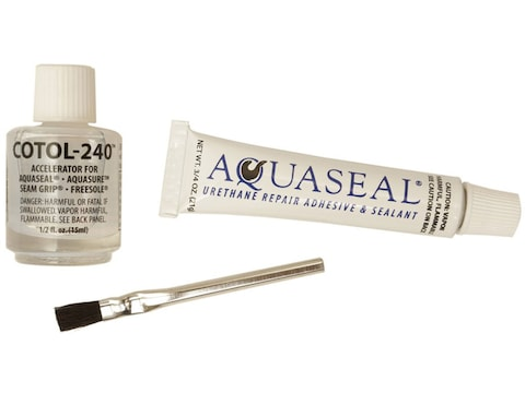 Gear Aid Aquaseal Waterproof Repair Adhesive Kit with Cure Accelerator