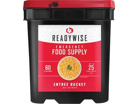 ReadyWise Grab N' Go Freeze Dried Food 60 Serving Entree Bucket