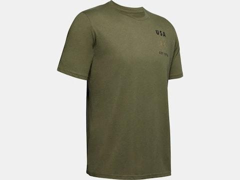 Under Armour Men's UA Freedom USA Emblem T-Shirt Short Sleeve Polyester/Cotton