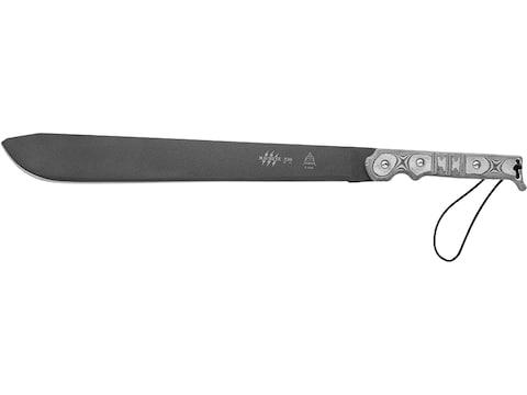 """TOPS Knives Machete .230 Machete 15.75"""" 1095 High Carbon Alloy Blade Linen Micarta Hand..."""