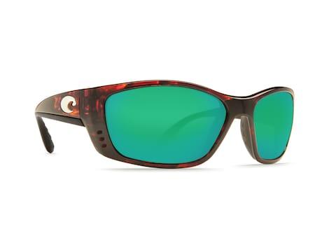 Costa Del Mar Fisch Polarized Sunglasses Tortoise Frame/Green Mirror Glass Lens