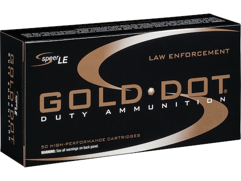 Speer LE Gold Dot Ammunition 38 Special +P 135 Grain Jacketed Hollow Point Box of 50 - ...